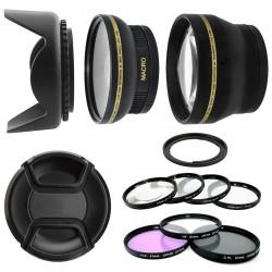 Kit 67MM UV CPL FLD Filtres Macro Téléphoto Grand Angle HD